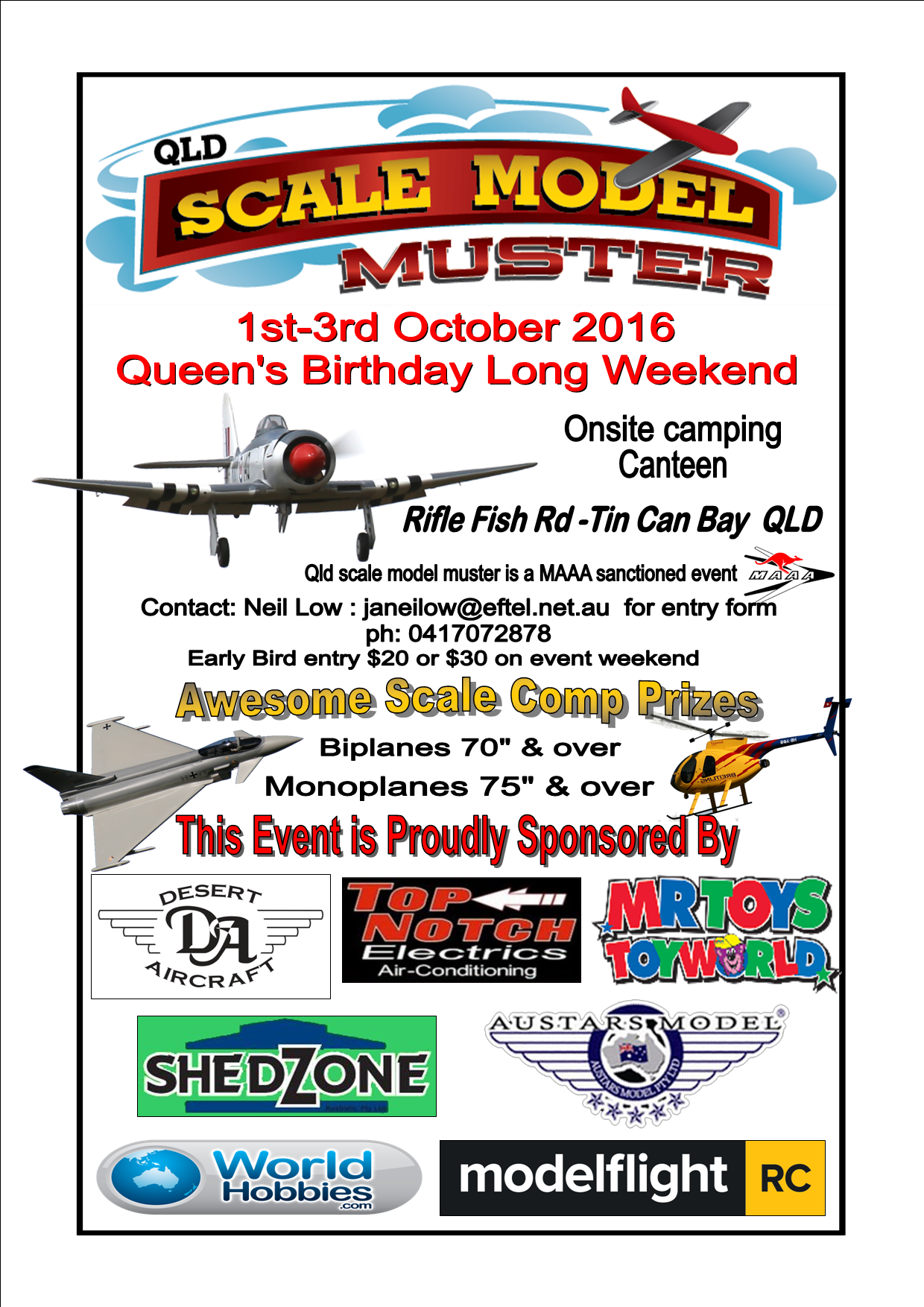 2016 scale model muster flyer maaq - Flyer Muster